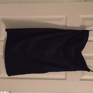 NWT black mini strapless dress